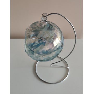 Świecznik, szklana kula, bombka, szkło dekoracyjne