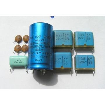 kondensatory valvo, WIMA do wzm. lampowych