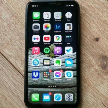 iPhone XR 128 GB czarny idealny komplet z etui