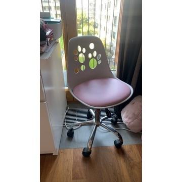 Designerski fotel dla dziecka FOOT biało-różowy