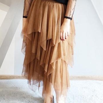 Spódnice z tiulem i plisowane