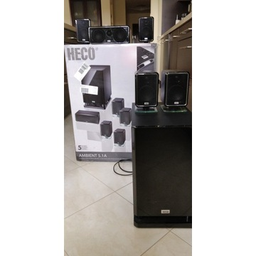 Heco Ambient 5.1A - kino domowe i cztery stojaki