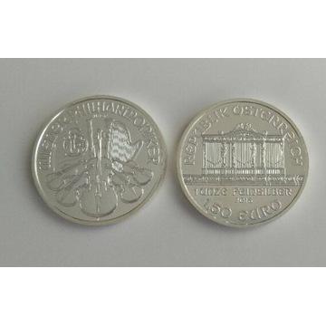 Wiedeński Filharmonik 1,5 euro uncja srebra moneta