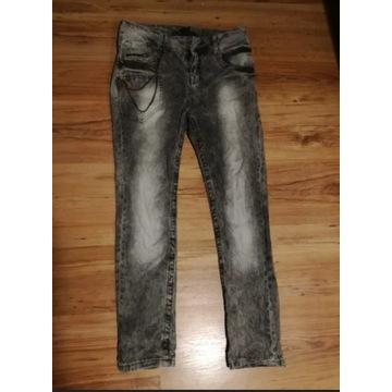 Szare spodnie HOUSE przecierane W29 L32 jeans