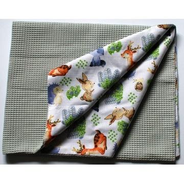 Kocyk dziecięcy 100% bawełna wafelek 80x100 cm