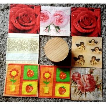 Zestaw szkatułka 8 serwetek dekoupage + 2 gratis