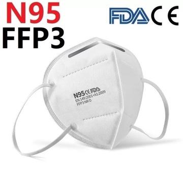 Maska Maseczka N95 FFP3 kpl 10 szt,5w, 1szt=3.3zł