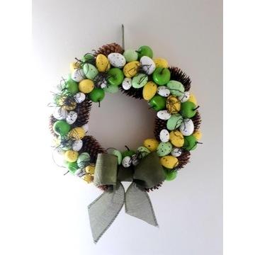 Wianek Wielkanocny wiosenny ozdoba dekoracja 36cm