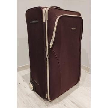 Walizka podróżna brązowa, duża. Wew. 72x45x35cm