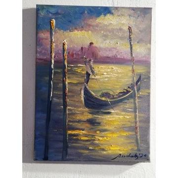 ,, Impresja Wenecja,, olejny Artur Sudak 40x30cm