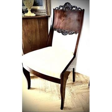 Krzesła 4 biedermeier mahoń oryginał