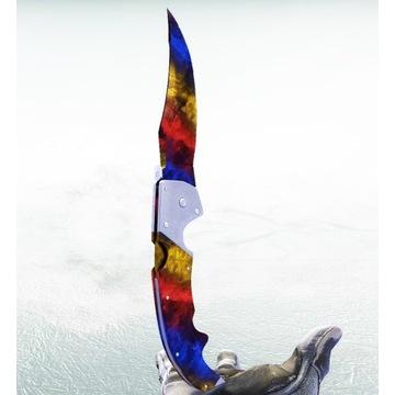 Nóż falcjon | Marmurkowy gradient FN - Kosa CSGO