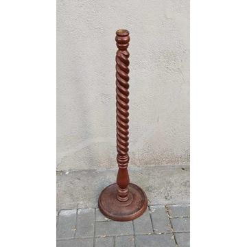 Drewniana noga podstawa do lampy, PRL