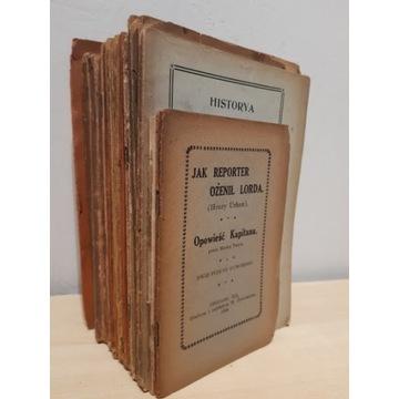 18 książek 1904-1909; Wydane w USA; Lista w opisie