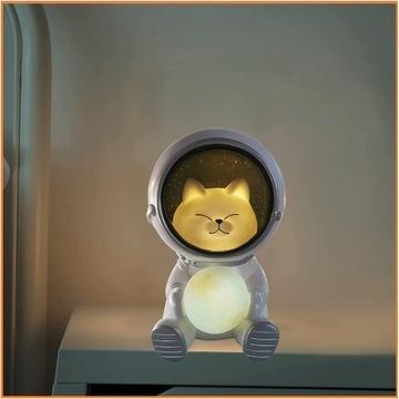 Kot Astronauta Lampka Dziecięca HIT