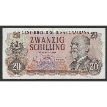 Austria 20 schilling 1956 - Welsbach - stan 2