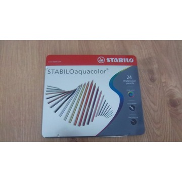 Kredki ołówkowe Stabilo Aquacolor 24k metal nowe