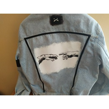 Custom kurtka jeansowa/katana RIFLE unisex M