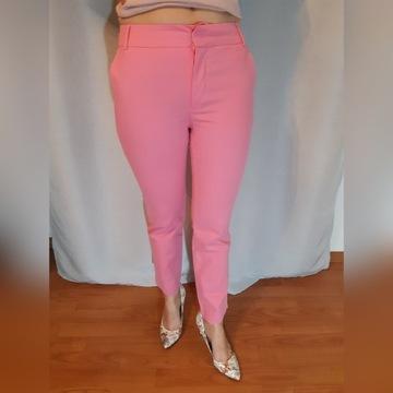 Spodnie różowe eleganckie