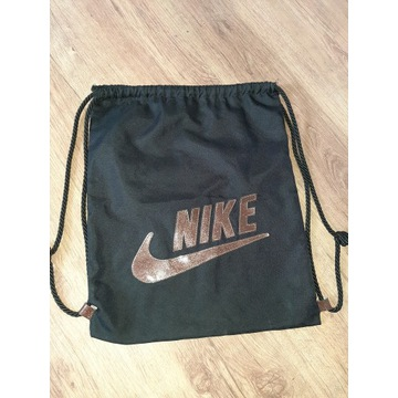 Worek Nike brokatowy napis