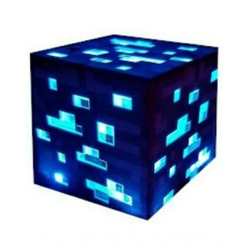 Minecraft Blok Ruda diamentu Nocna lampka Gadżet