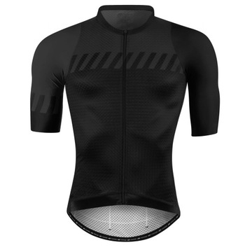 Koszulka rowerowa FORCE FASHION, czarno-szara L