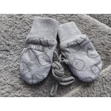Rękawiczki niedrapki dziecięce, szare, misie, doll
