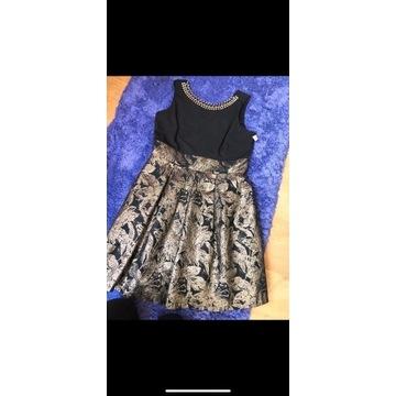Czarno złota sukienka XL/XXL