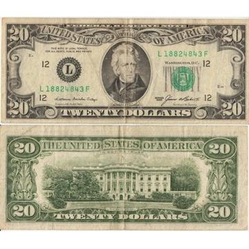 20  Dolarów USA 1985r