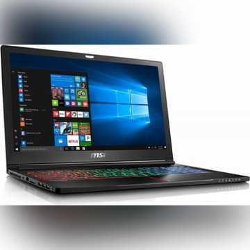 Laptop MSI GS63VR i7/16GB/1TB+128GB/GTX 1060 6GB