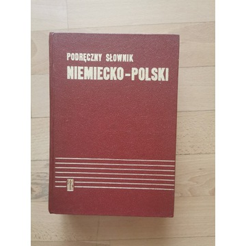 książka -Podręczny słownik niemiecko-polski -1984