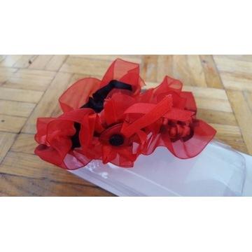 PODWIĄZKA czerwona, czerwono-czarna, studniówka