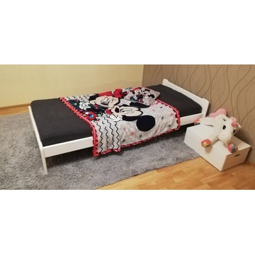 łóżko dziecięce 80 sosnowe białe dla dziecka 90