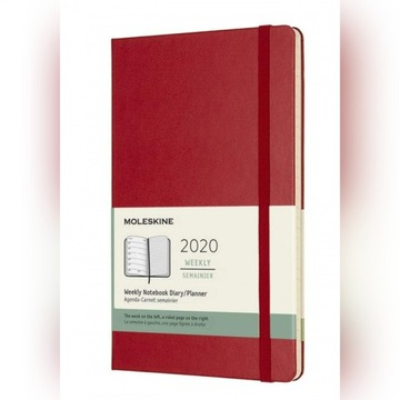 Moleskine Weekly Planner 2020 L Hard Cover