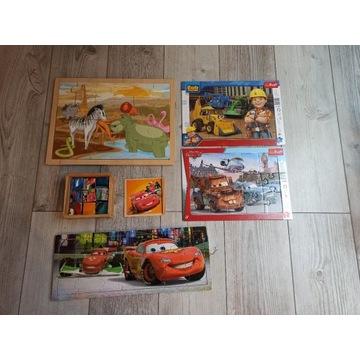 Puzzle drewniane i tradycyjne mcQueen, Bob itp