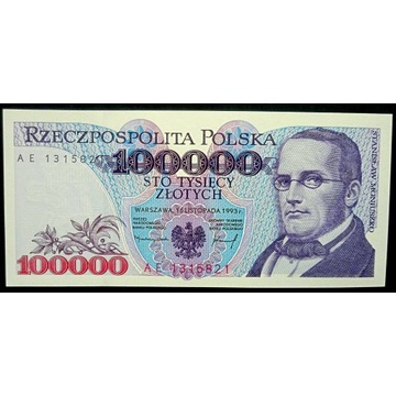 100000 zł - 1993 - AE - st.1 UNC