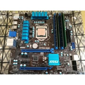 Procesor i7-3770 delid + płyta MSI H77MA-G43 +16GB