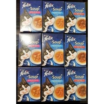 Super pakiet 54 zup Purina Felix Soup dla kotka!