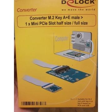 Adapter M.2 Key A+E na Mini PCIe Delock 62848