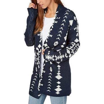Roxy Sweter Kardigan KARID 3, bardzo gruby na zimę