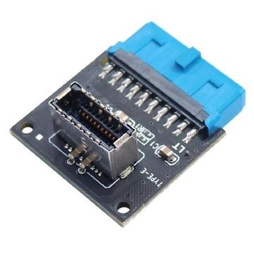 Adapter wewnętrzny USB 3 do USB E panel front