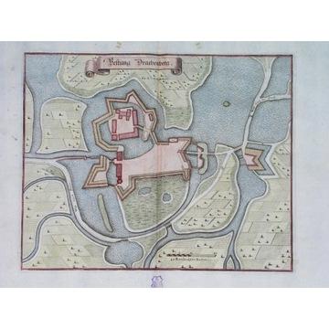 1666 MAPA ŚLĄSK ŻMIGRÓD TRACHENBERG Merian Wrocław