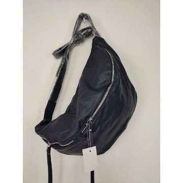 Nowa granatowa torebka torba nerka eko-skóra
