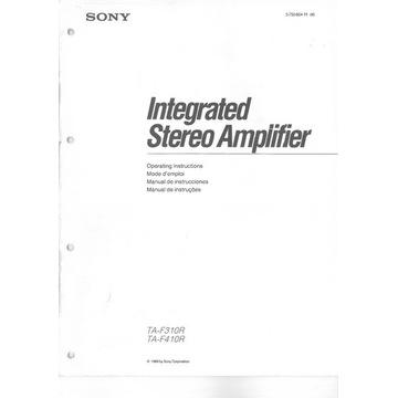Instrukcja Sony TA-F310R TA-F410R po polsku