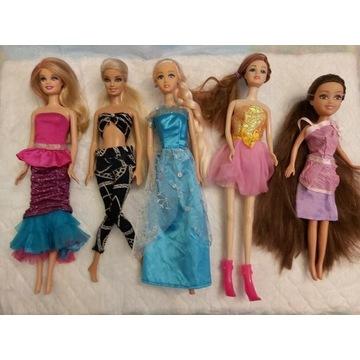 Zestaw 5 lalek Barbie Mattel i nie tylko