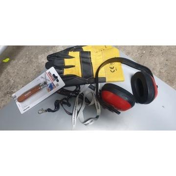 rękawice ochronne słuchawki scyzoryk kreator