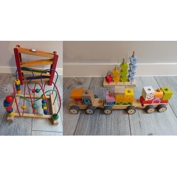 Drewniane zabawki, Pociąg, zjeżdżalnia, IKEA MULA