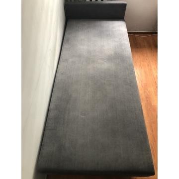 Łóżko szare, tapicerowane. Jak nowe!