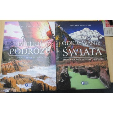 2 książki podróżnicze Wielkie podróże Odkrywanie