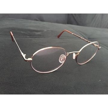 okulary giorgio armani zerówki złote okrągłe